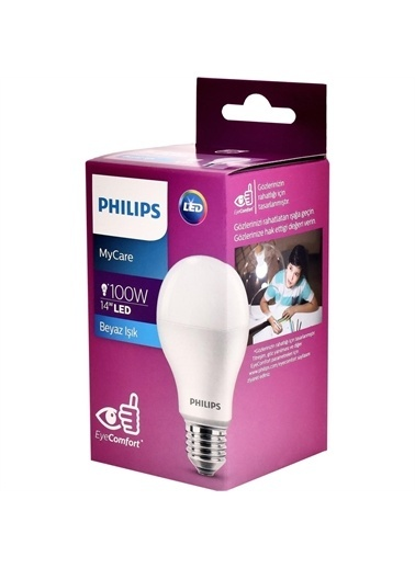 Philips Philips LEDBulb 14-100W E27 6500K B,RNKL Renkli